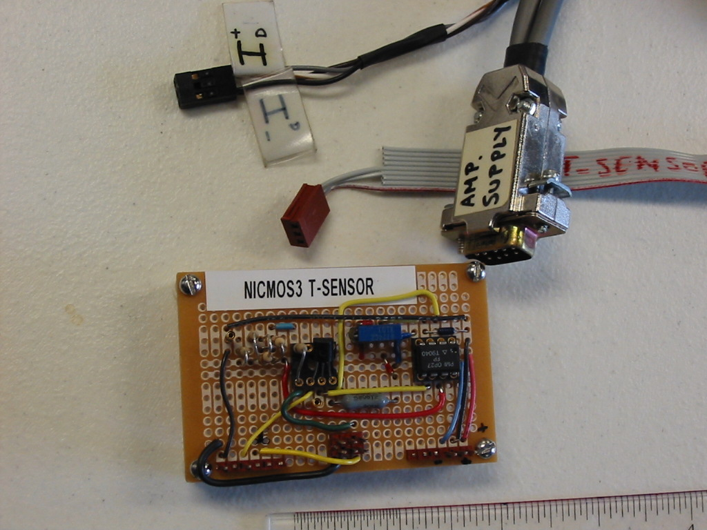 Iota Ribbon Cable Schematic Photo Of Three Parts The Bendix 10 Pin Connects To Bottom Dewar Dual Inline Center Header On Nicmos3 T Sensor Board